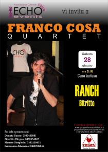 Franco Cosa e la sua Band c/o Ranch con cena