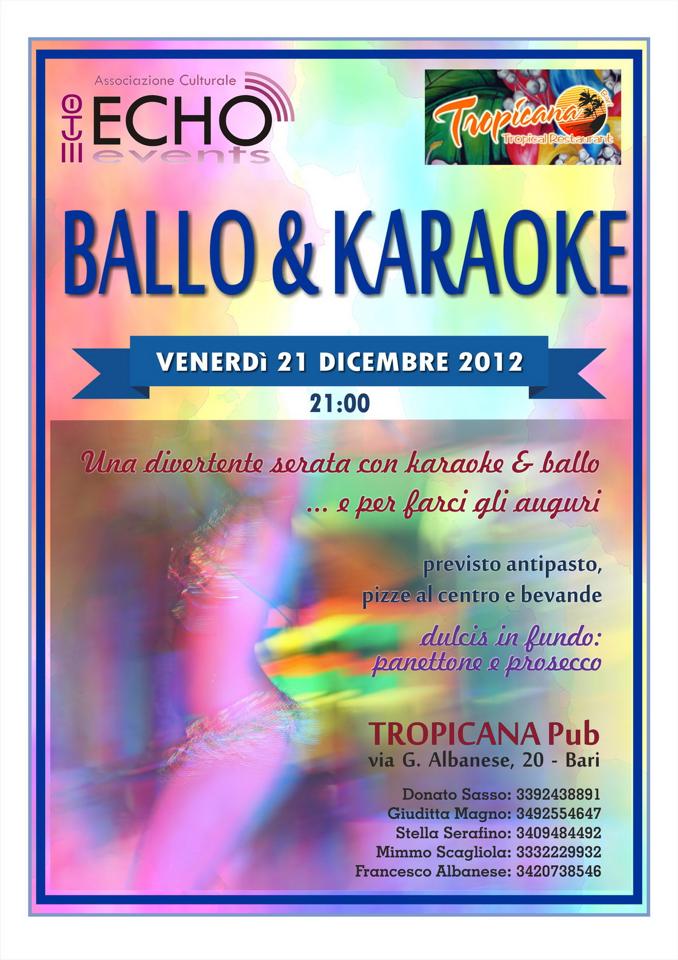 Buon Natale Karaoke.Ballo Karaoke E Auguri Di Buon Natale Ven 21 Dicembre 2012
